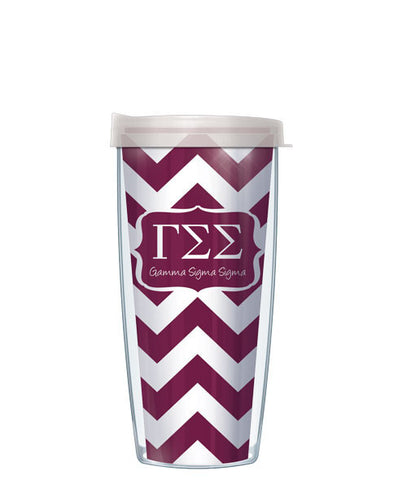 Gamma Sigma Sigma - Chevron with Clear Lid