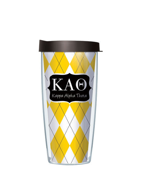 Kappa Alpha Theta - Argyle with Black Lid