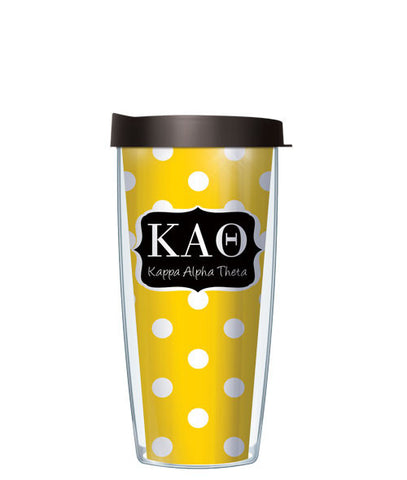 Kappa Alpha Theta - Dots with Black Lid