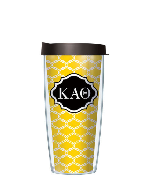 Kappa Alpha Theta - Duofoil Pattern with Black Lid