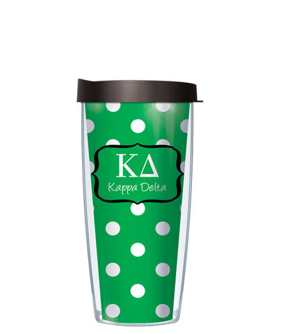Kappa Delta - Dots with Black Lid