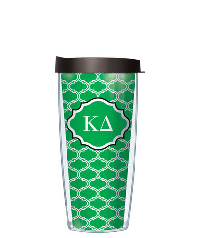 Kappa Delta - Duofoil Pattern with Black Lid