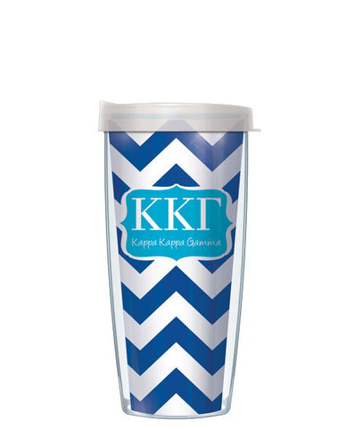 Kappa Kappa Gamma - Chevron with Clear Lid