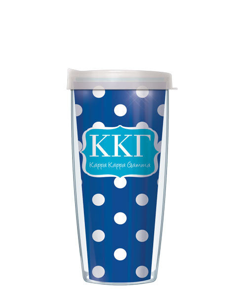 Kappa Kappa Gamma - Dots with Clear Lid