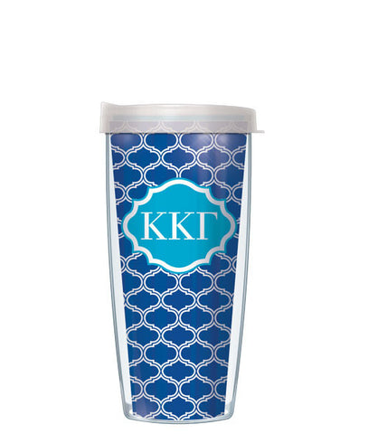 Kappa Kappa Gamma - Duofoil Pattern with Clear Lid