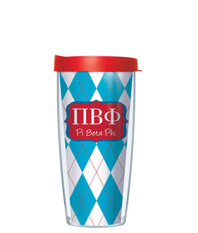 Pi Beta Phi - Argyle with Red Lid