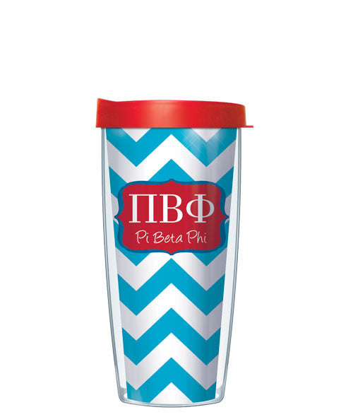 Pi Beta Phi - Chevron with Red Lid