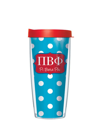 Pi Beta Phi - Dots with Red Lid