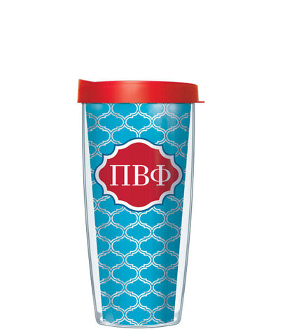 Pi Beta Phi - Clear Duofoil with Red Lid