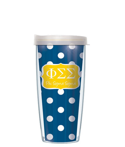 Phi Sigma Sigma - Dots with Clear Lid