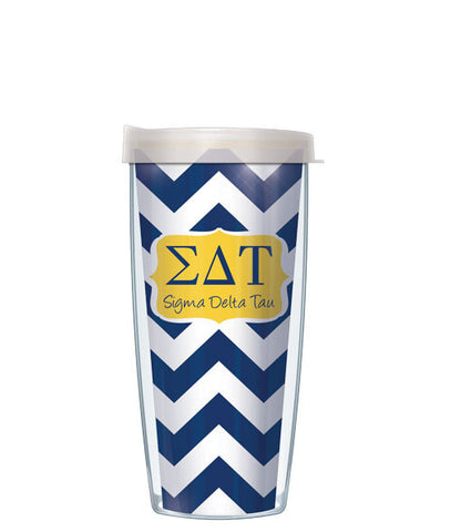 Sigma Delta Tau - Chevron with Clear Lid