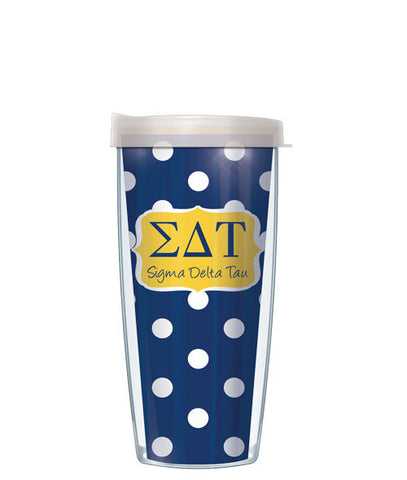 Sigma Delta Tau - Dots with Clear Lid