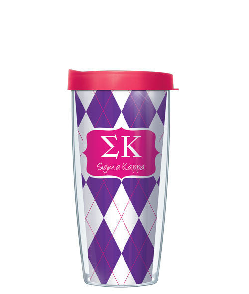 Sigma Kappa - Argyle with Pink Lid