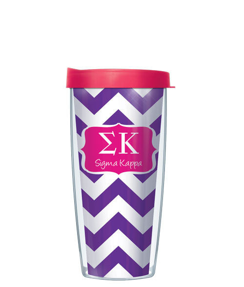 Sigma Kappa - Chevron with Pink Lid