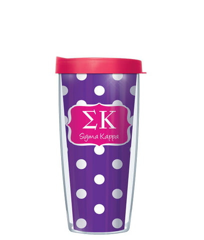 Sigma Kappa - Dots with Pink Lid