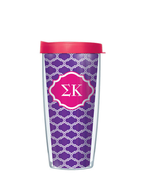 Sigma Kappa - Duofoil Pattern with Pink Lid