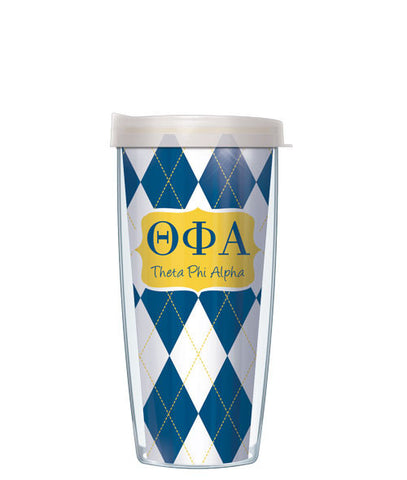 Theta Phi Alpha - Argyle with Clear Lid