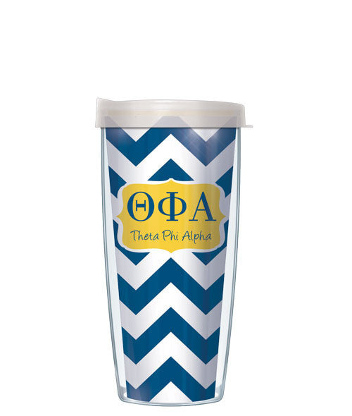 Theta Phi Alpha - Chevron with Clear Lid