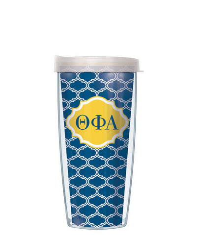 Theta Phi Alpha - Duofoil Pattern with Clear Lid