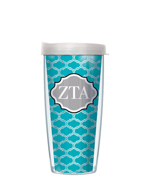 Zeta Tau Alpha - Clear Duofoil with Clear Lid