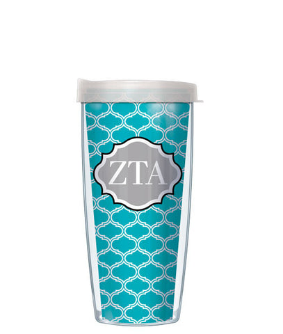 Zeta Tau Alpha - Duofoil Pattern with Clear Lid