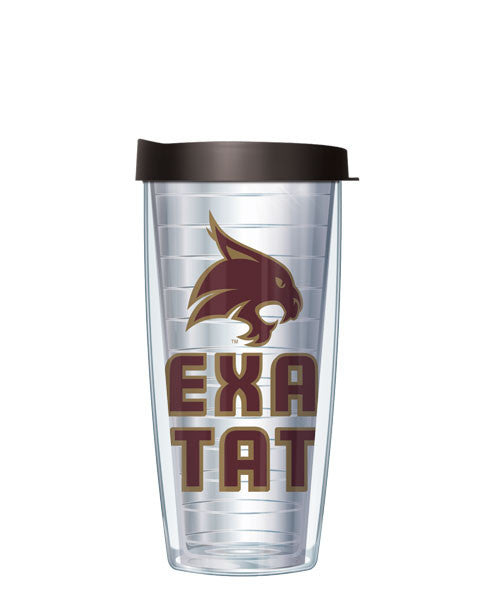 Texas State University - Logo on Clear with Black Lid