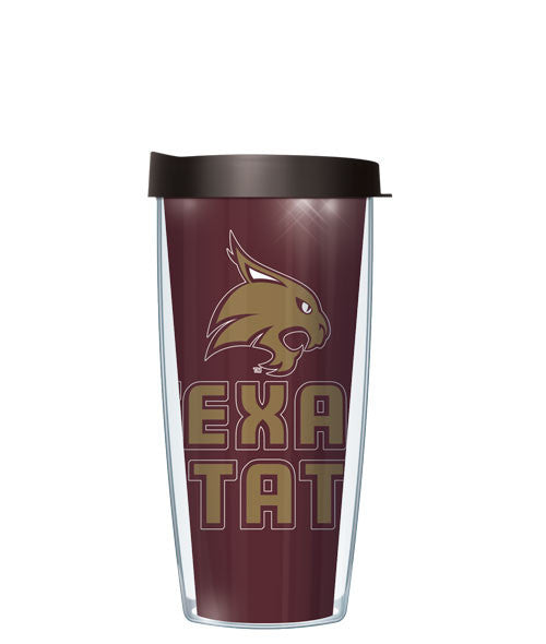 Texas State University - Large Logo & Inside Pattern with Black Lid