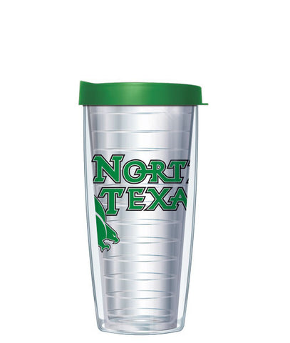 University of North Texas - Logo on Clear with Black Lid