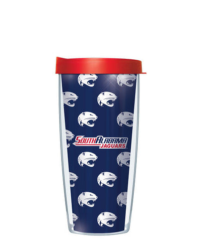 University of South Alabama - Repeat Pattern with Red Lid