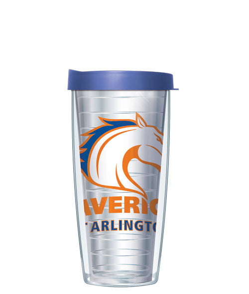 University of Texas, Arlington - Logo on Clear with Blue Lid