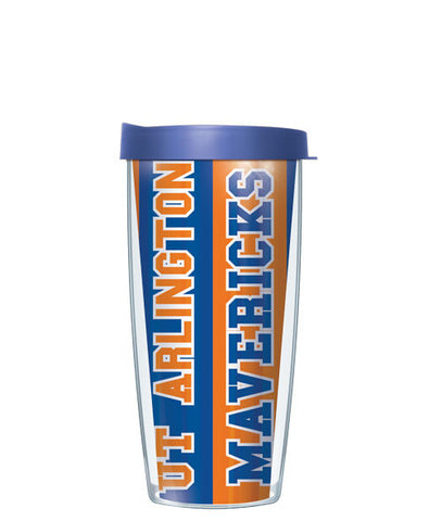 University of Texas, Arlington - Vertical Stripes with Blue Lid
