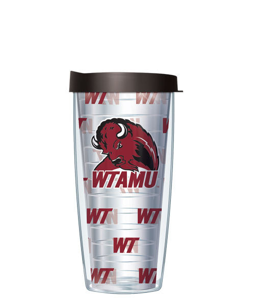 West Texas A&M University - Logo Pattern on Clear with Black Lid