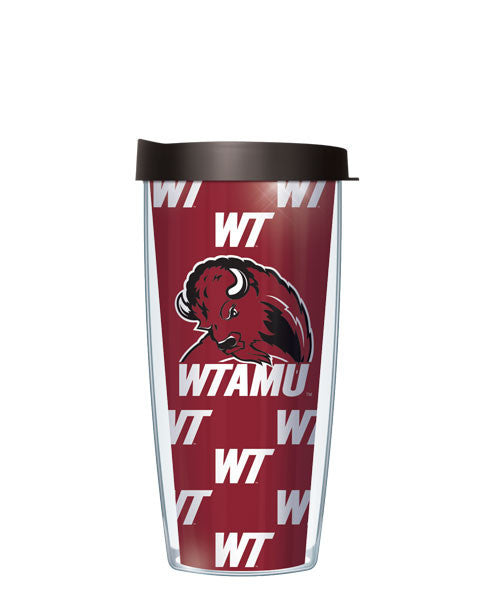 West Texas A&M University - Repeat Pattern with Black Lid