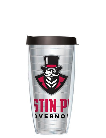 Austin Peay State University - Large Logo on Clear Pattern