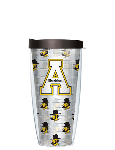 Appalachian State - Repeat Logo on Clear Pattern