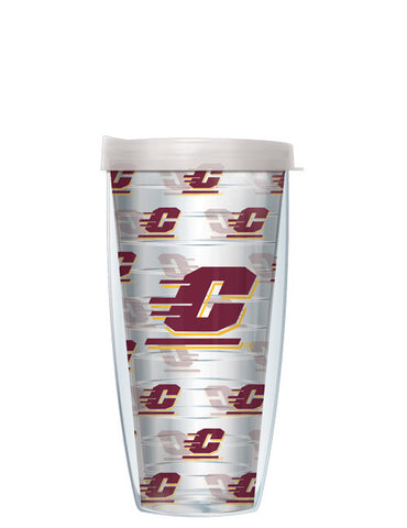 Central Michigan University - Repeat Logo on Clear Pattern