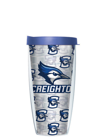 Creighton University - Repeat Logo on Clear Pattern