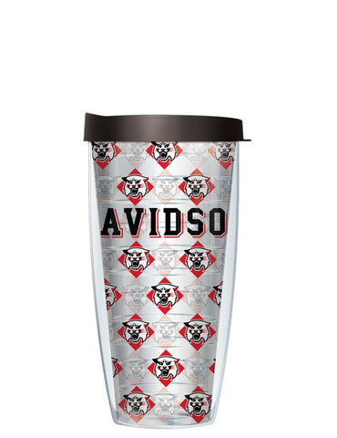 Davidson College - Repeat Logo on Clear Pattern