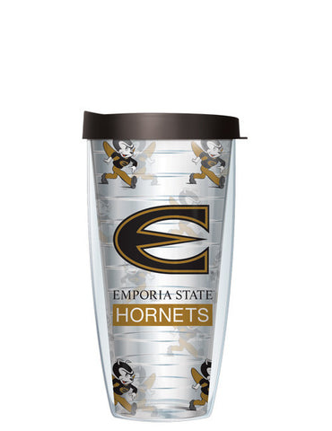 Emporia State University - Repeat Logo on Clear Pattern
