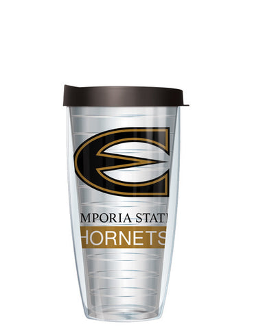 Emporia State University - Large Logo on Clear Pattern