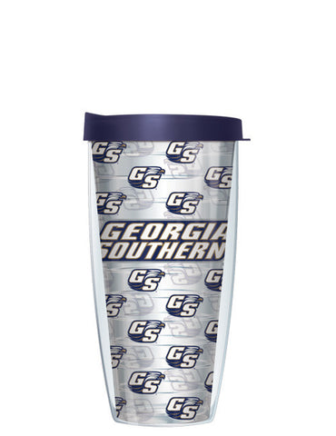 Georgia Southern University - Repeat Logo on Clear Pattern