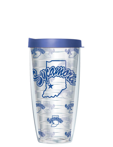 Indiana State University - Repeat Logo on Clear Pattern