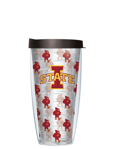 Iowa State University - Repeat Logo on Clear Pattern