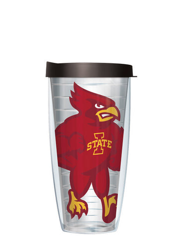 Iowa State University - Large Logo on Clear Pattern