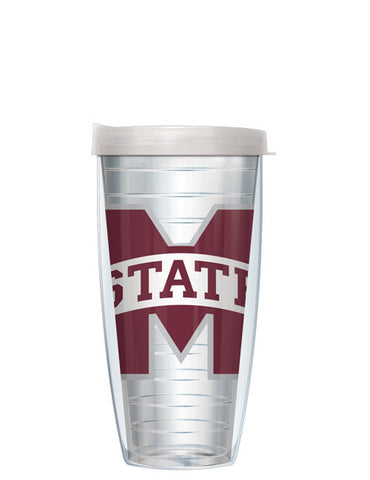 Mississippi State University - Large Logo on Clear Pattern