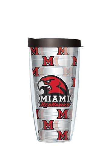 Miami University - Repeat Logo on Clear Pattern