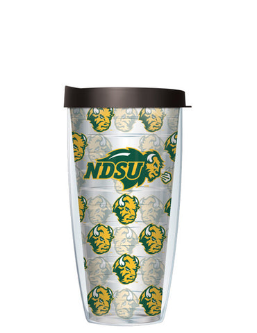 North Dakota State University - Repeat Logo on Clear Pattern