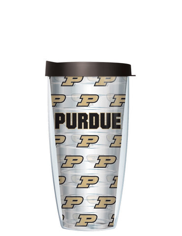 Purdue University - Repeat Logo on Clear Pattern