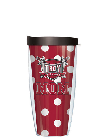 Troy University - Mom on Dots Pattern