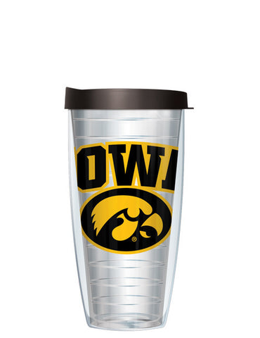 University of Iowa - Large Logo on Clear Pattern
